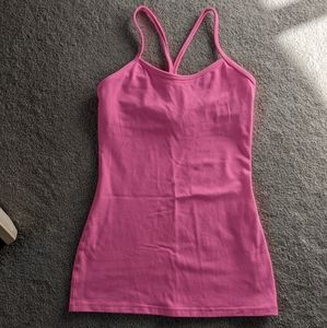 GUC Pink Lululemon Power Y Tank